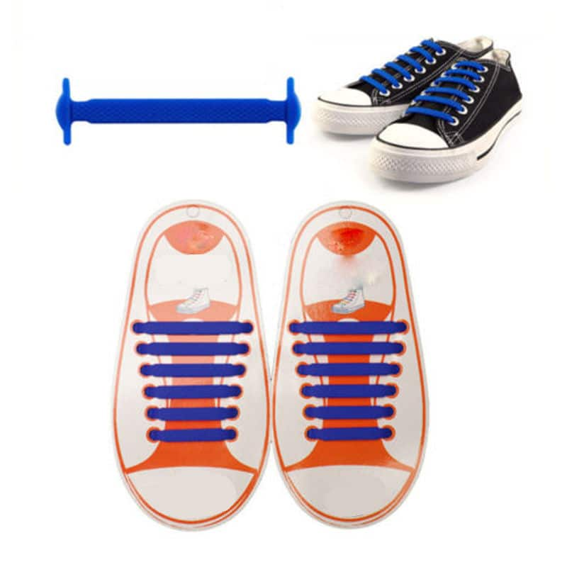 Silikoniset kengännauhat, 16kpl, monta eri väriä