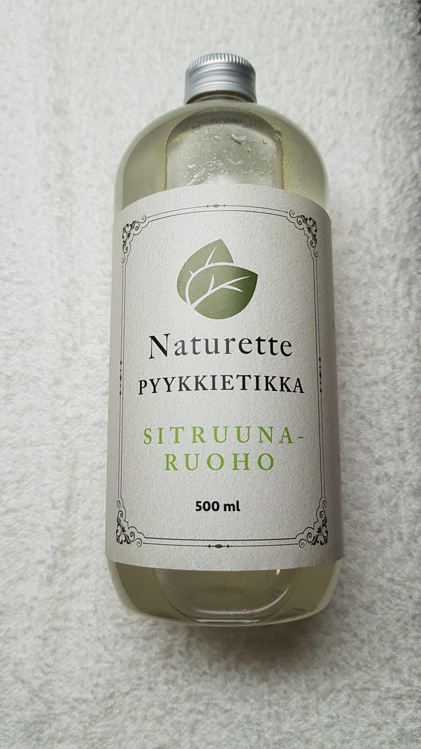NATURETTE pyykkietikka Sitruunaruoho, 500ml – kotimainen, luomu, ekologinen