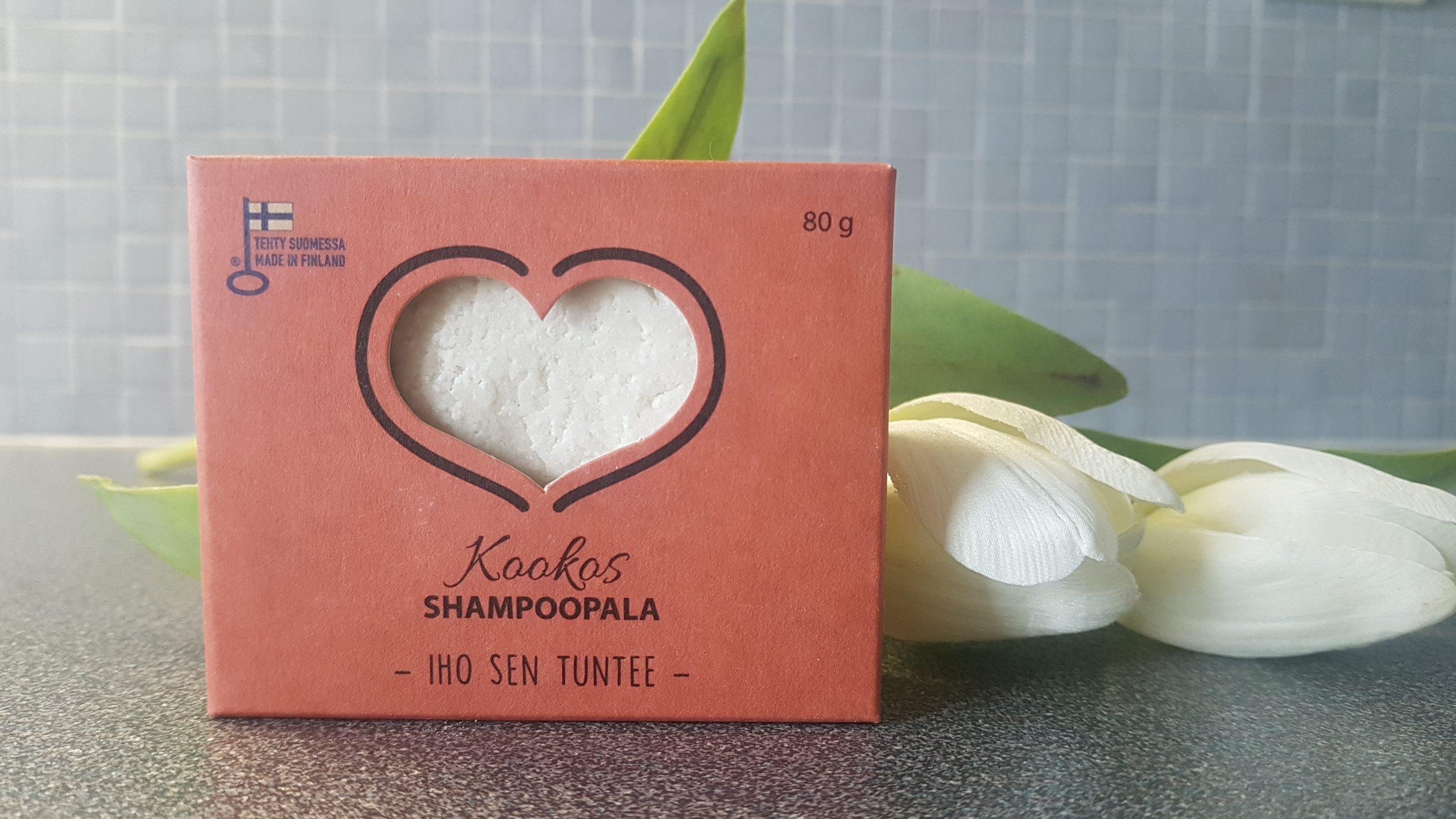 Carita Cosmetiikka – ei tahmaava kotimainen, vegaaninen palashampoo Kookos, 80g