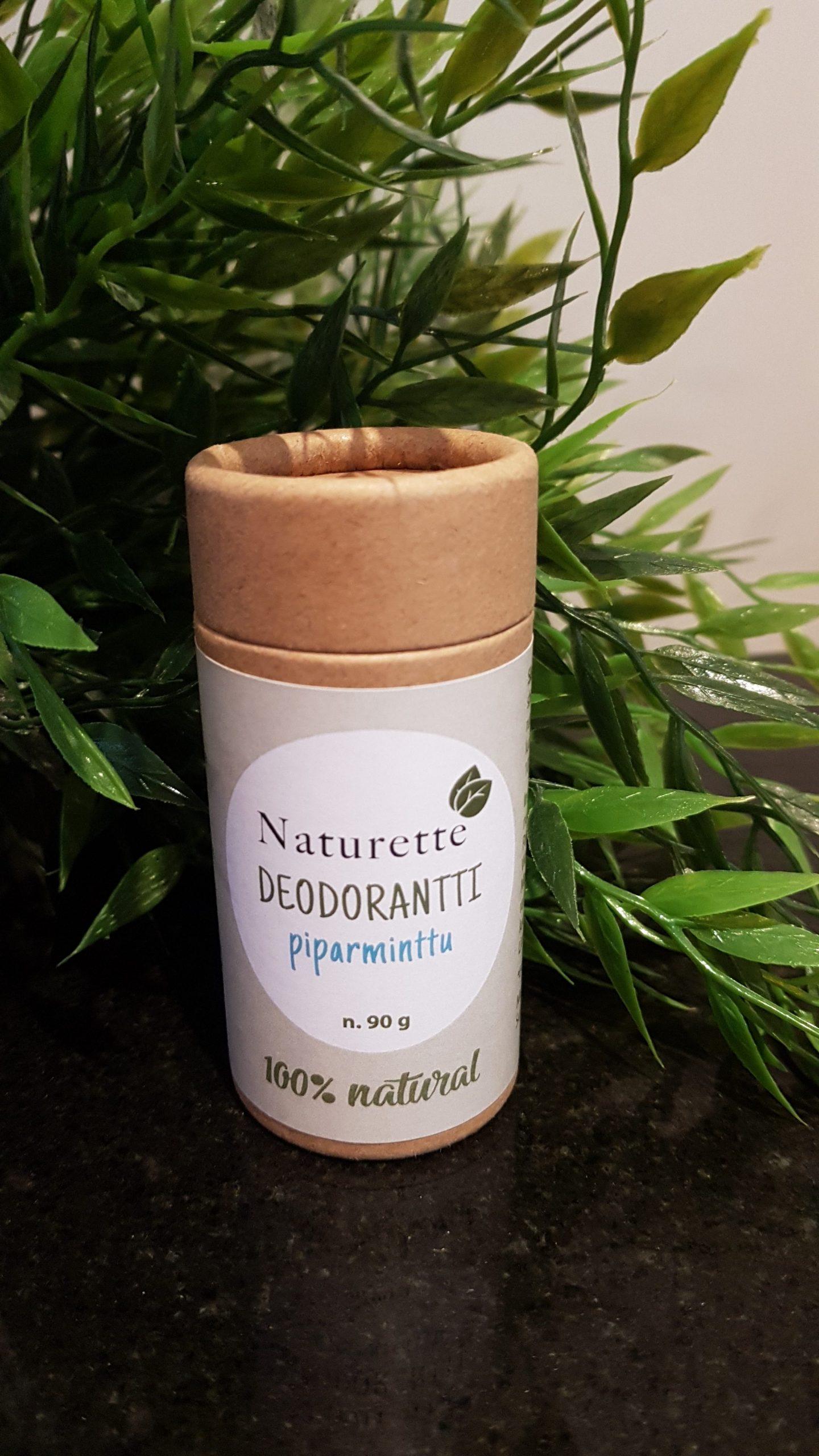 Naturette deodorantti-stick, Piparminttu, ekologinen, luomu, kotimainen, 90g